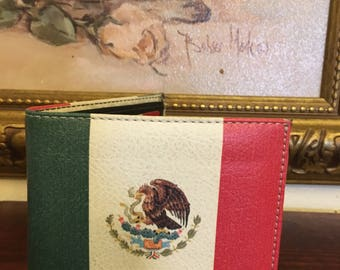 Mexican Flag Leather Wallet
