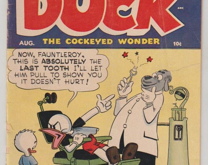 Super Duck Comics; Vol 1, 45, Golden Age Comic Book. VG-. August 1952. Archie Comic Publications