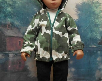 Camouflage Hoody Set to fit 17 inch Sasha Gregor doll