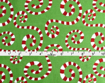 Peppermint Christmas Fabric, In The Beginning Fabric Its Christmas 6JHF 1 Jennifer Heynen, Peppermint Fabric, Christmas Quilt Fabric, Cotton