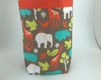 All About the Animals - Knitting, Crochet or Fiber-work Project Bag