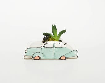 Turquoise Planter Etsy