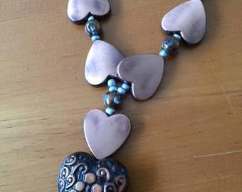 Unique Copper Necklace 15 inch
