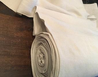 11.4 mtrs. Antique homespun pure linen, Fine even weave. dowry llinen 1907'', clothes, curtains, cases, crafts.