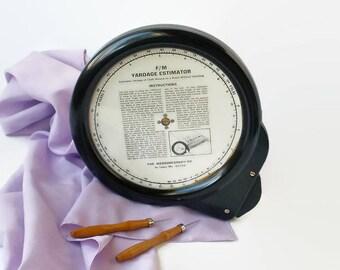 Vintage Sewing Tool Gadget Decor Fabric Yardage Estimator Measuregraph Co Bakelite
