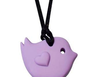 Little Bird Sensory Necklace - Munchables Girls' Chewelry