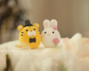 chinese zodiac wedding cake toppers rabbit wedding cake topper handmade lovely rabbit and 12675