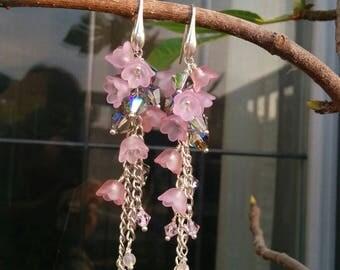 Earrings Pink Flowers, Elena