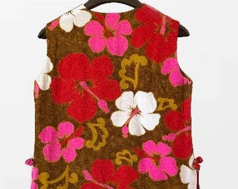 Tiki  Hawaiian Floral Dress