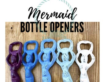 Mermaid Decor l Cast Iron Mermaid Bottle Opener l Nautical Beach Decor l Mermaid Gifts l Beer Bottle Opener