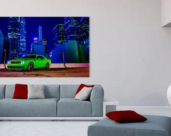 """Challenger """"City"""" Canvas Poster"""