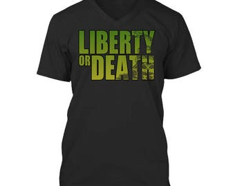 Liberty or Death V Neck