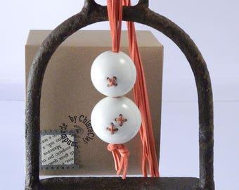 porcelain necklace sewn