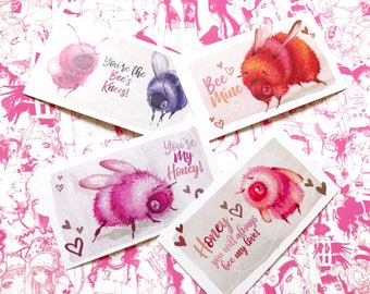Bee-lentine's Day Cards- Set of 4