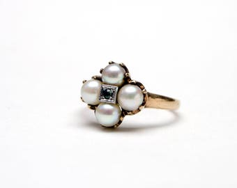 SOLD to S****10k Pearl Cluster Ring