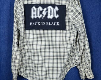 Upcycled Flannel AC/DC
