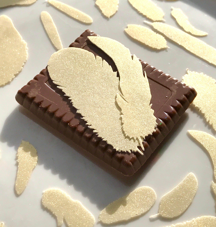 Edible Feathers Golden Boho Wedding Cake Decoration Wafer Paper ...