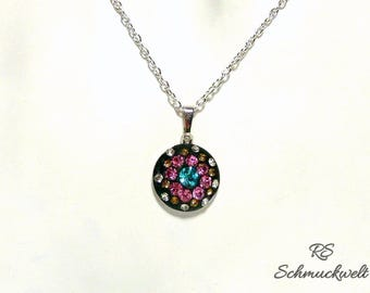 Crystal pendants, pendants about Crystal occupied, dainty, subtle, pink Crystal, turquoise Crystal, avant-garde jewelry, gift