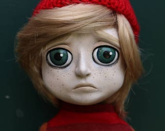 """Large 20.9"""" posable OOAK sad doll Spencer (Mims Victims)"""