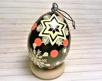 Pysanky, Pysanky Ornament, Snowflake, Christmas Pysanky, Snowflake Ornament, Christmas Tree Ornament, Snowflake Ornament, Snowflake Pysanky