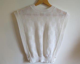 Vintage white sleeveless acrylic canada