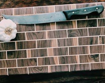 Custom Handmade Walnut & Maple Cutting Board