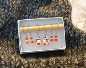 BB8 Droid stitch marker for knitting/crochet