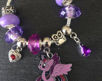 My Little Pony Twilight Sparkle Charm Bracelet