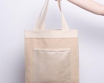 Large Tote /Market Bag / Bottle Holder Tote
