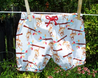 Monkey Print Baby Bloomers, 3-6 months