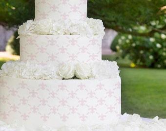 Cake Stencils- Large Fleur-De-Lis Stencil, Birthday Cake, Wedding Cake, Celebration Cake, Washable, Reusable, Dishwasher Safe, Food Safe