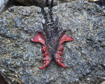 Bone Jewelry - Bone Necklace - Jawbone Jewelry - Taxidermy Jewelry -  Gothic - Unique Necklace - Jawbone Butterfly