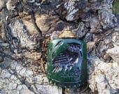 Green Owl Pendant/Green Pendant/Owl Pendant/Unisex Owl Pendant/Small Owl Pendant/Gr