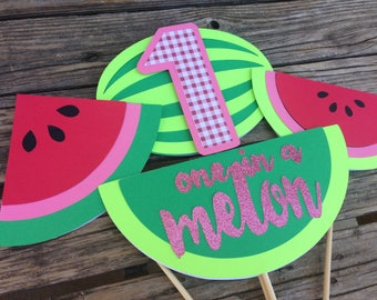 One In A Melon Party - Summer Party, Watermelon Party, First Birthday, Table Decorations One