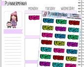 Ugh Stickers Word Stickers Planner Stickers Planner Accessories Pastel Stickers 685
