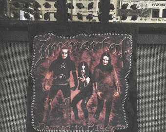 """Upcycled """"Immortal - Damned in Black"""" Tote Bag"""
