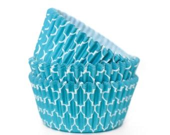 Aqua Cupcake Liners (Qty 50)
