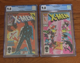 UNCANNY X-MEN #203 & #208 CGC 9.0 Xmen with Hellfire Club and Nimrod Appearance Newly Graded Comic Book