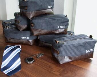 Personalized Groomsmen Gift Dopp Bag Kit Men's Toiletry For Men Retirement Groomsman Father's Day Men's Gift Man Travel Case Shaving Leather