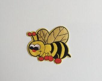 Cartoon Bee iron on patch