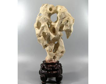 Small White Taihu Stone Chinese Scholar's Rock