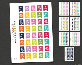Design Your Own - Flags - Planner Stickers
