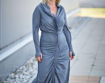 Women Dress, Maxi Dress, Plus Size Clothing, Winter Dress, Gray Dress, Minimalist Dress, Casual Dress, Bohemian Dress, Trendy Dress