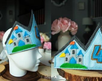 Boy Birthday Crown, Birthday Crown, Castle Birthday Crown, Castle Crown, Princess Birthday Crown, Baby Boy Crown, Sword, Custom Crown