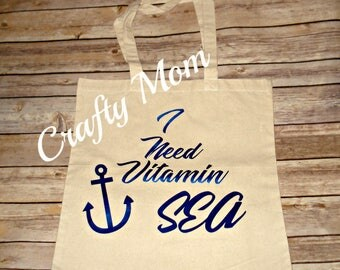 I Need Vitamin Sea Tote