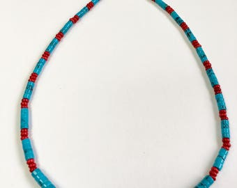 Coral and Turquoise Vintage Necklace