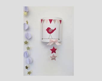 Applique wall bird swing