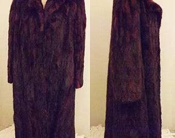 50's Vintage Full Length Mink Coat by Furs by Richard Size 14
