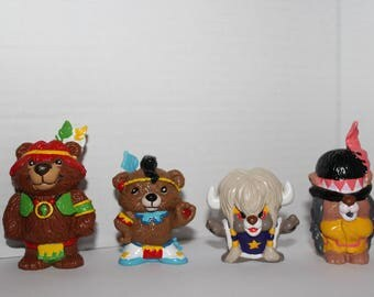 1985 Hannah Barbera Paw Paws Figurines, Set Of 4