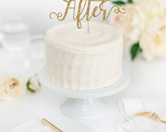 Happily Ever After Cake Topper - Wedding Cake Topper - Glitter Cake Topper - Wedding Decor - DIY Wedding - Fairytale Wedding Theme Decor